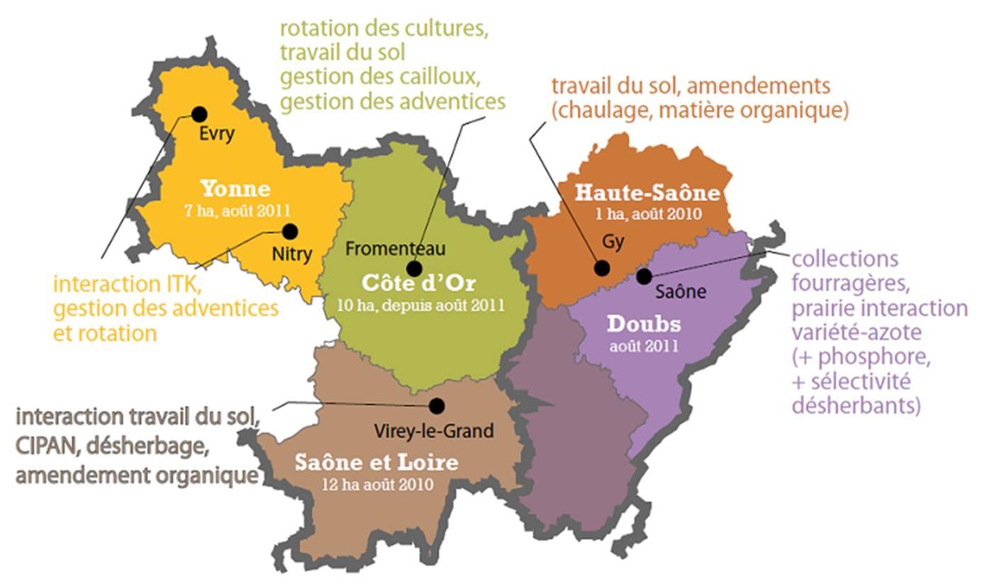 Cartographie du réseau d'expérimentation Artémis
